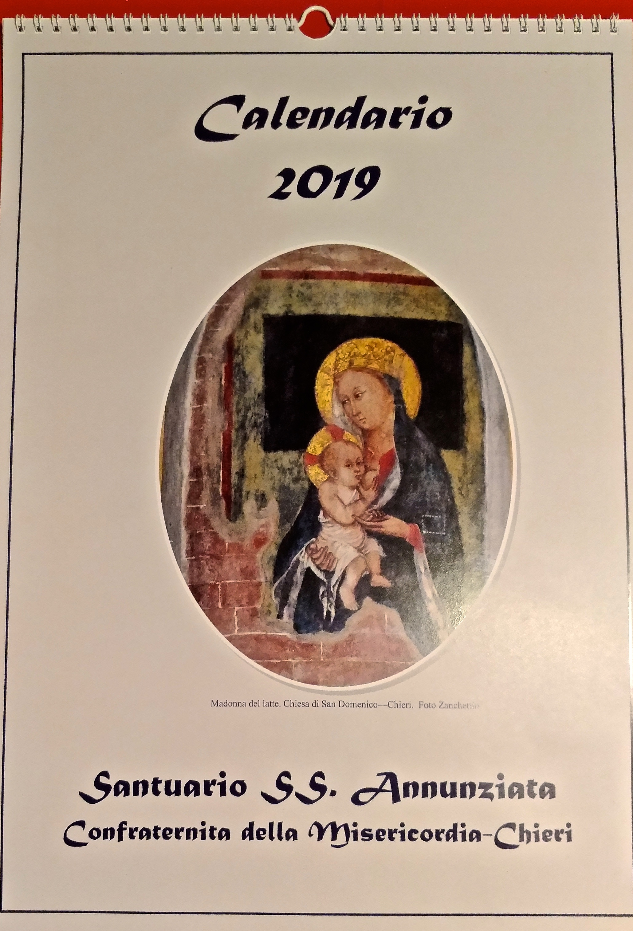 calendario confraternita chieri 2019