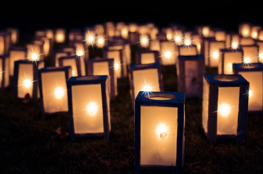 luce nella preghiera.