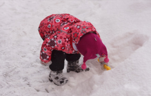 giocare e neve