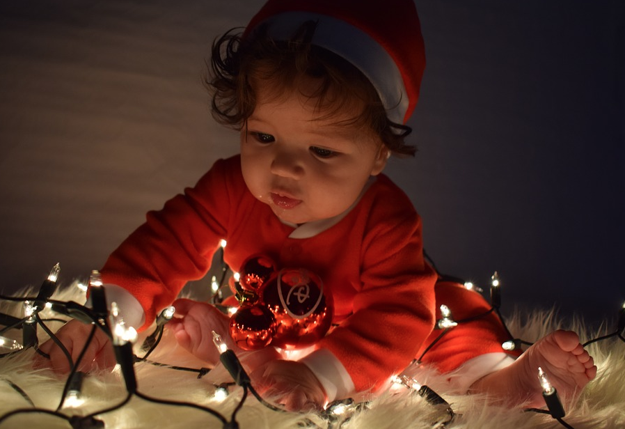 bimba a Natale