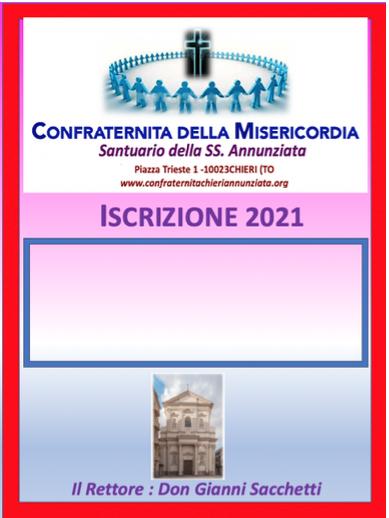 Tessera 2021 Confraternita