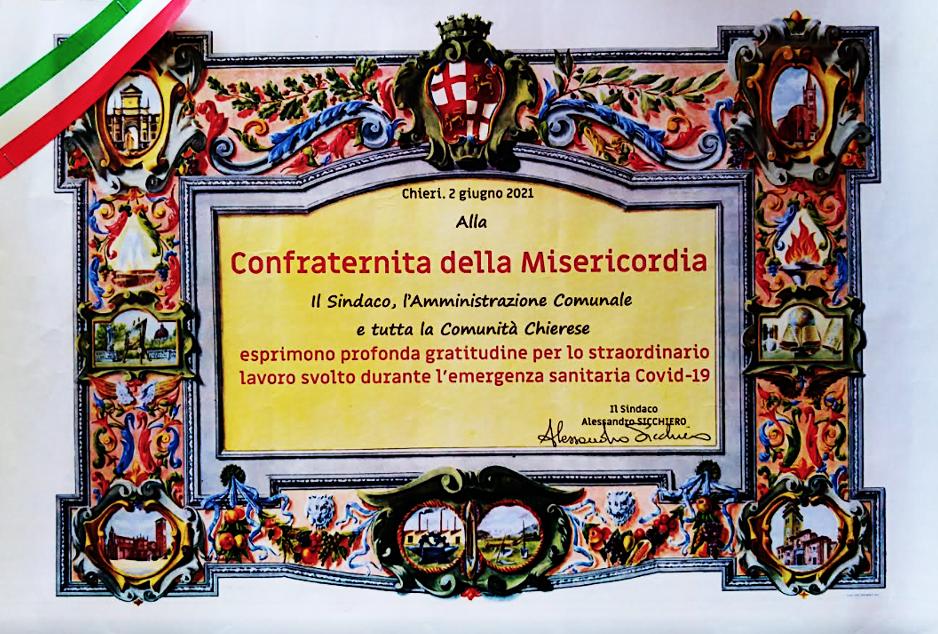 diploma Confraternita chieri